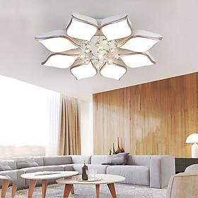 Đèn chùm pha lê phòng khách, đèn mâm ốp trần trang trí - OPLADY068