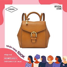 Balo nữ nhỏ thời trang Fossil Liv Mini Backpack ZB1352231- màu nâu
