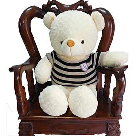 Gấu bông Teddy cao cấp áo len khổ 1m2 (Trắng)