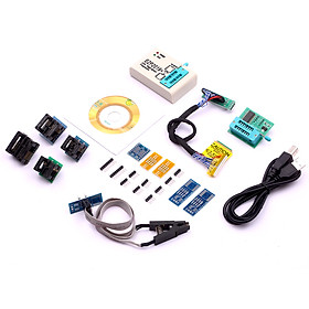 EPROM Programmer Kit High-Speed USB SPI BIOS Flasher Flash Programming Tool Pack with 1.8V Adapter SOP8 Flash Clip USB
