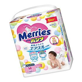 MUA 6 Tã/bỉm quần Merries size M - 58 miếng (Cho bé 6 - 11kg) - Tặng 1 gói cùng loại-3