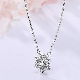 Dây chuyền bạc 925 bông tuyết lung linh  nhẹ nhàng xinh đẹp, đầy cá tính, mang lại nhiều may mắn