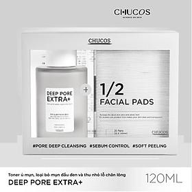 Toner ủ mụn CHUCOS Deep Pore Extra+ 120ml