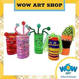 Hộp thủ công sáng tạo từ ống giấy WOW ART kit 1, bé 3+, giúp bé rèn luyện sự khéo léo của bàn tay, sự tập trung, khả năng tư duy sáng tạo, trí tưởng tượng