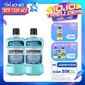 Bộ 2 Chai Nước súc miệng ngăn ngừa mảng bám Listerine Tartar Protection 750mlx2