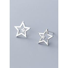 Bông Tai Nữ | Bông Tai Nữ Bạc Ngôi Sao B2430 - Bảo Ngọc Jewelry