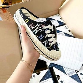 Giày sneakrs sục nữ thêu họa tiết N.YYY