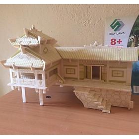 Đồ chơi lắp ráp gỗ 3D Mô hình Nhà Sàn