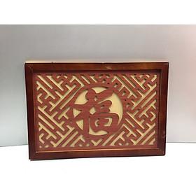 Tấm chống ám khói chữ Phúc ( chữ Hán ).( trang trí lắp trên ban thờ treo tường).