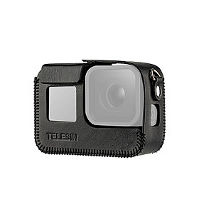 TELESIN Camera Protective Case Shell Cover PU Leather Compatible with GoPro Hero 8 Action Camera