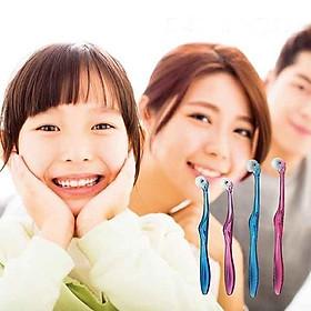Bàn chải đánh răng bánh lăn dáng thẳng KURUN Nhật Bản (người lớn / trẻ em tùy chọn) - 1 chiếc