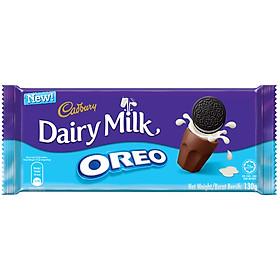 Sôcôla Sữa Cadbury Dairy Milk Nhân Bánh Quy Oreo 130g