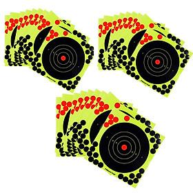 30 Pcs Splatter Reactive Self Adhesive Shooting Targets Gun