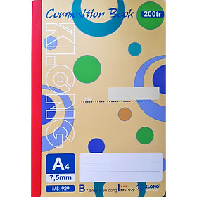 Combo 2 Sổ may Klong Composition Book 200 trang