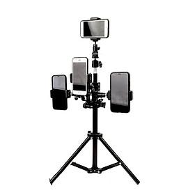 Bộ Sản Phầm Livetream, Quay Video LT-008  Kẹp 4 Máy Và Có Đèn Led 3 Cấp Độ Sáng