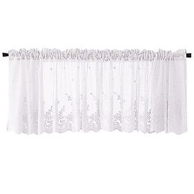 (Toponeto) Waffle Woven Textured Valance for Bathroom Water Repellent Window Covering