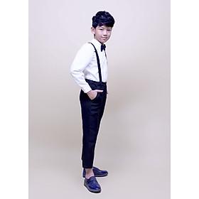 Áo sơmi trắng tay dài bé trai cotton Jadiny TAS028