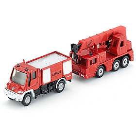 siku Shigao German brand toy car model simulation fire truck fire truck crane car model car - fire car suit (2) SKUC1661