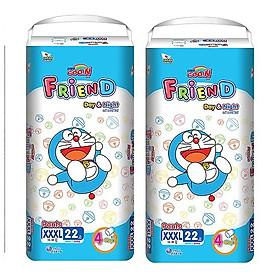 Combo 2 gói Tã quần Goo.n Friend XXXL22 thiết kế mới
