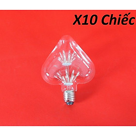 Bộ 10 bóng đèn led trang trí hình trái tim, đèn trang trí độc đáo hàng chính hãng