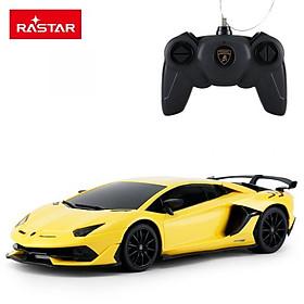 Đồ chơi điều khiển RASTAR Xe điều khiển 1:24 Lamborghini Aventador SVJ_màu Vàng R96100/YEL