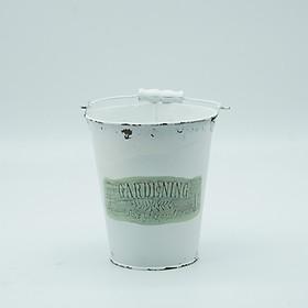 Hình đại diện sản phẩm xô thiết cắm hoa gardening màu trắng