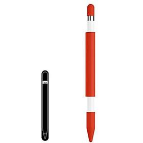 Ống silicon từ tính hít nam châm bảo vệ bút cảm ứng Apple Pencil-tặng kèm thanh kim loại để gắn bút vào iPad
