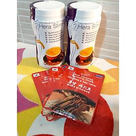 Combo 2 hộp Sữa hỗ trợ giảm cân Hera slimfit 500gr- TẶNG 3 MASK Sâm Hàn Quốc-EO ĐẸP - DÁNG THON- Thay thế hoàn toàn bữa ăn - hỗ trợ Giảm cân an toàn