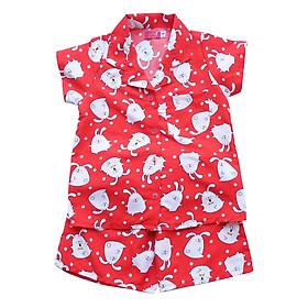 Đồ Bộ Thỏ Trắng Nền Đỏ Bé gái Cuckeo kids - T41910