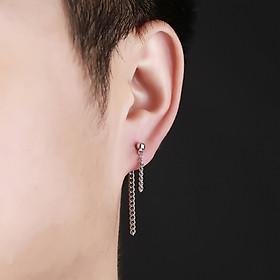 Bông tai xích nam nữ đeo trước- sau đơn giản cá tính