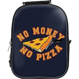 Balo Unisex In Hình No Money, No Pizza - BLTE142