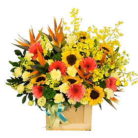 "Hộp hoa tươi - Hộp Hoa ""Khai Vận"" 4040"