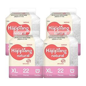 Tã quần hữu cơ HAPPIANG natural size XL ( 10 - 13kg)-0