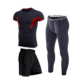 Bộ đồ tập gym nam 3 món HÀNG CAO CẤP xuất khẩu DN01