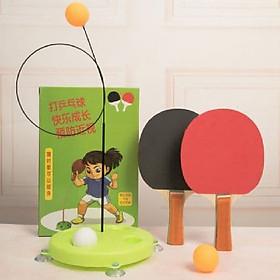 Bộ đồ chơi bóng bàn tự động không cần bàn - đồ chơi vận động tặng kèm dụng cụ ngoáy tai có đèn tiện lợi