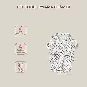 Set Bộ PYJAMA Cho Bé Trai Bé Gái Từ 1 Tuổi Đến 5 Tuổi Chất Liệu Silk Cotton Thiết Kế P'TI CHOU