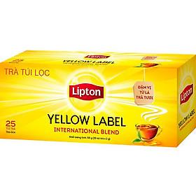 """Trà Lipton Nhãn Vàng 25 Túi/ Hộp - 64021197 giá chỉ còn <strong class=""""price"""">35.000đ</strong>"""