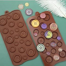 Khuôn silicon làm rau câu, socola, kẹo dẻo hình nút áo