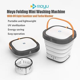 Máy Giặt Mini Di Động Moyu Với Bộ Làm Sạch Bằng Tia Cực Tím Có Thể Gấp Lồng Giặt Phù Hợp Cho Du Lịch