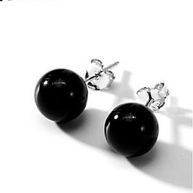 Bông Tai Nữ   Bông Tai Nữ Bạc S925 Đính Đá Đơn Giản B1557 - Bảo Ngọc Jewelry