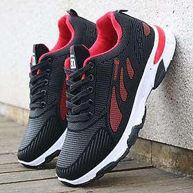 Giày Sneaker -Giày Thể Thao Nam Cao Cấp - Kiểu Dáng Thời Trang, Hiện Đại - 2 Màu Đen và Đỏ Nổi Bật, Cá Tính - Full Size - GTTN-66
