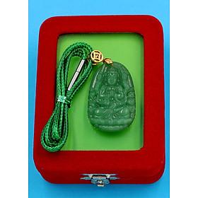 Hình đại diện sản phẩm Dây vòng cổ phật Thiên Thủ Thiên Nhãn - thạch anh xanh 3.6cm DXTXA8 - kèm hộp nhung - tuổi Tý