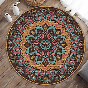 Home Decorative Round Carpet Fashion Area Rugs Bedroom Anti-slip Floor Mat 40CM