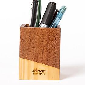 Ống cắm bút cao cấp (APH02), hộp đựng bút bằng gỗ để bàn làm việc