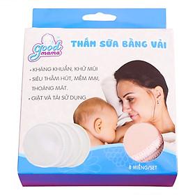 Miếng Lót Thấm Sữa Giặt Được Bằng Vải Goodmama (Hộp 8 Miếng)