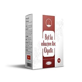 Bột lá nhuộm tóc màu Nâu Đỏ Lá Móng Ogatic 50gr thảo dược