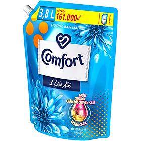 Nước Xả Làm Mềm Vải Comfort Chăm Sóc Chuyên Sâu Đậm Đặc Một Lần Xả Hương Ban Mai Túi 3.8L