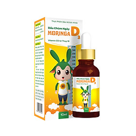 Combo 2 Lọ Dầu chùm ngây Moringa D3 - Bổ sung Vitamin D3 giúp phát triển chiều cao, hấp thu canxi cho trẻ nhỏ và trẻ sơ sinh - Lọ 10ml