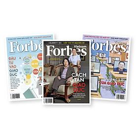 Combo tạp chí Forbes Việt Nam chủ đề giáo dục