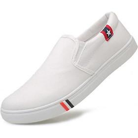 Giày Lười Nam Vải Thoáng Khí Pettino GL12 Màu Trắng